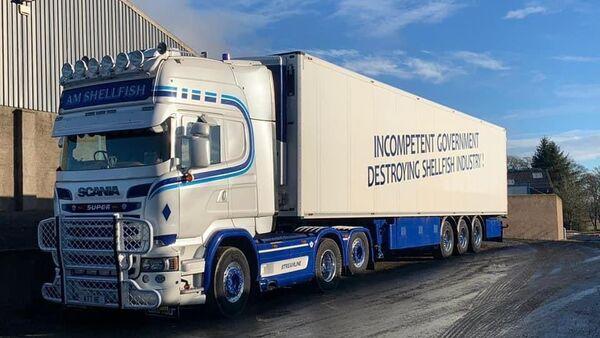 Lorry with the slogan Brexit carnage - Sputnik International