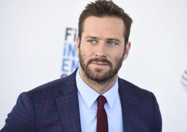Armie Hammer arrives at the 34th Film Independent Spirit Awards in Santa Monica, California, US, on Saturday, 23 February 2019.