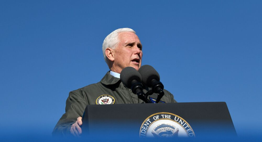 U.S. Vice President Mike Pence visits Naval Air Station Lemoore in Lemoore, California, U.S., January 16, 2021. REUTERS/Kate Munsch