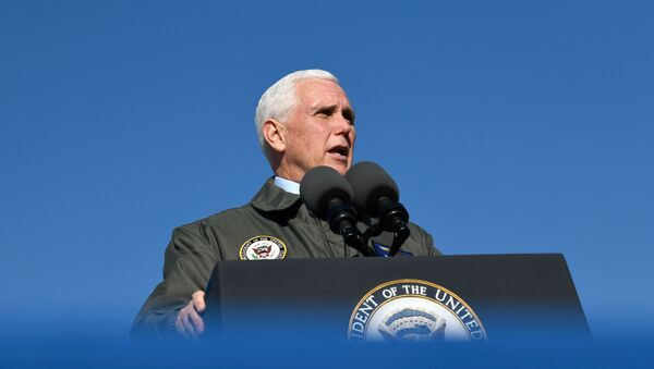 U.S. Vice President Mike Pence visits Naval Air Station Lemoore in Lemoore, California, U.S., January 16, 2021. REUTERS/Kate Munsch - Sputnik International