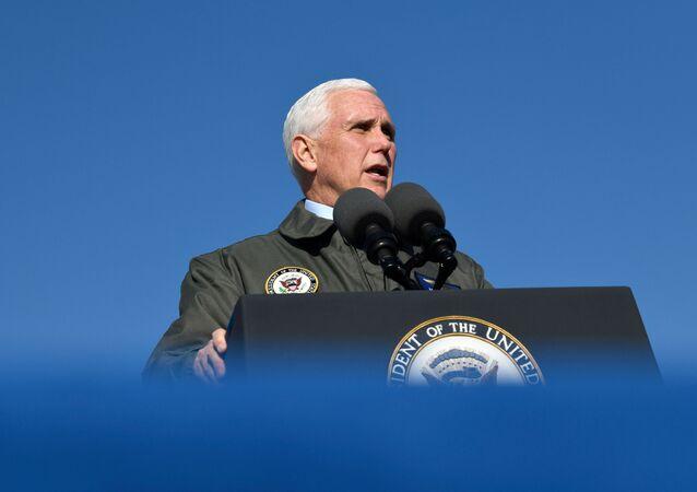 U.S. Vice President Mike Pence visits Naval Air Station Lemoore in Lemoore, California, U.S., January 16, 2021. REUTERS/Kate Munsch