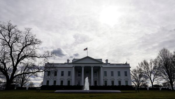 Clouds pass over the White House as preparations for the inauguration of President-elect Joe Biden continue in Washington, U.S., January 18, 2021. - Sputnik International