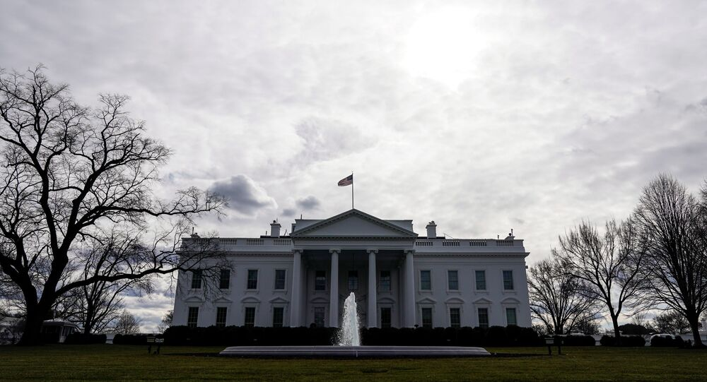 Clouds pass over the White House as preparations for the inauguration of President-elect Joe Biden continue in Washington, U.S., January 18, 2021.