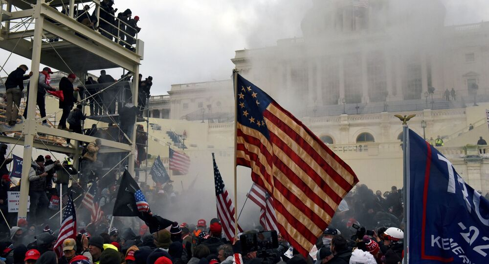 Supporters of US President Donald Trump protest in front of the Capitol Building in Washington, US 6 January 2021. REUTERS/Stephanie Keith/File Photo