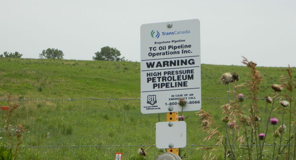 A sign in Steele City, Nebraska where the Keystone XL pipeline would terminate