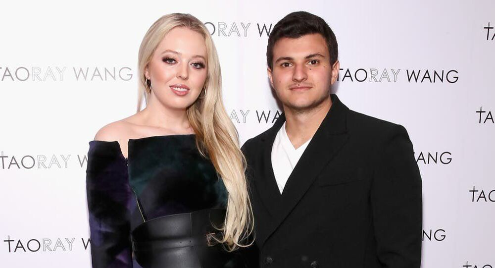 Tiffany Trump with fiance Michael Boulos.