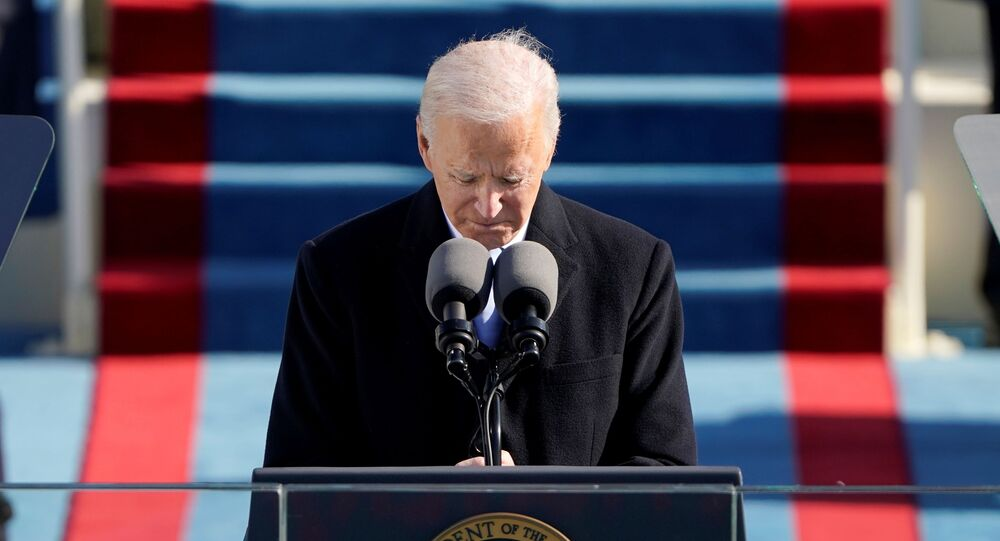 U.S. President Joe Biden speaks during the 59th Presidential Inauguration at the U.S. Capitol in Washington January 20, 2021.