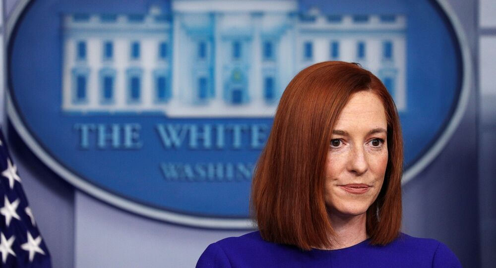 White House Press Secretary Jen Psaki speaks in the James S Brady Press Briefing Room at the White House, after the inauguration of Joe Biden as the 46th President of the United States, U.S., January 20, 2021.