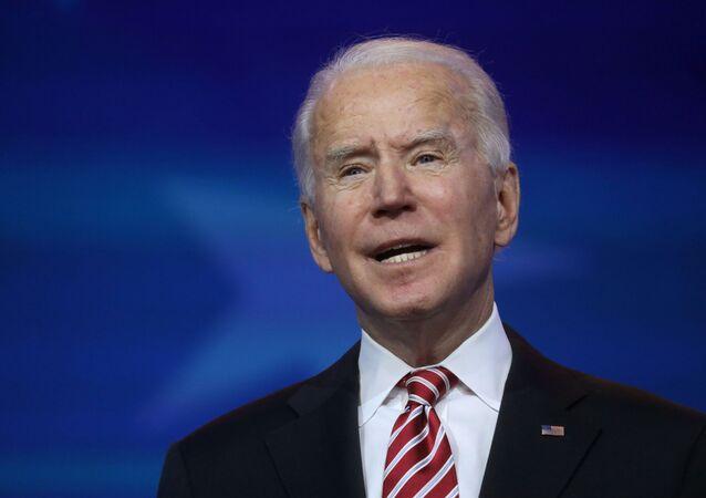 US President-elect Joe Biden announces his nominee for secretary of education, Miguel Cardona in Wilmington, Delaware, US, 23 December 2020.