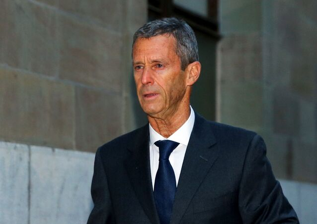 Israeli billionaire Beny Steinmetz arrives to a courthouse to defend himself against corruption and forgery charges in connection with mining contracts in Guinea, in Geneva, Switzerland January 11, 2021.