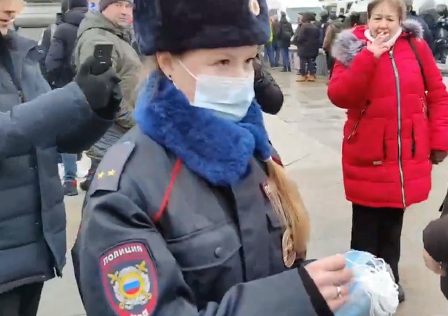 Policewoman in Moscow