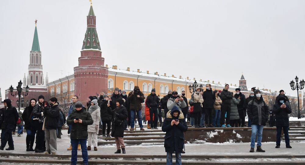 Navalny's supporters in Moscow