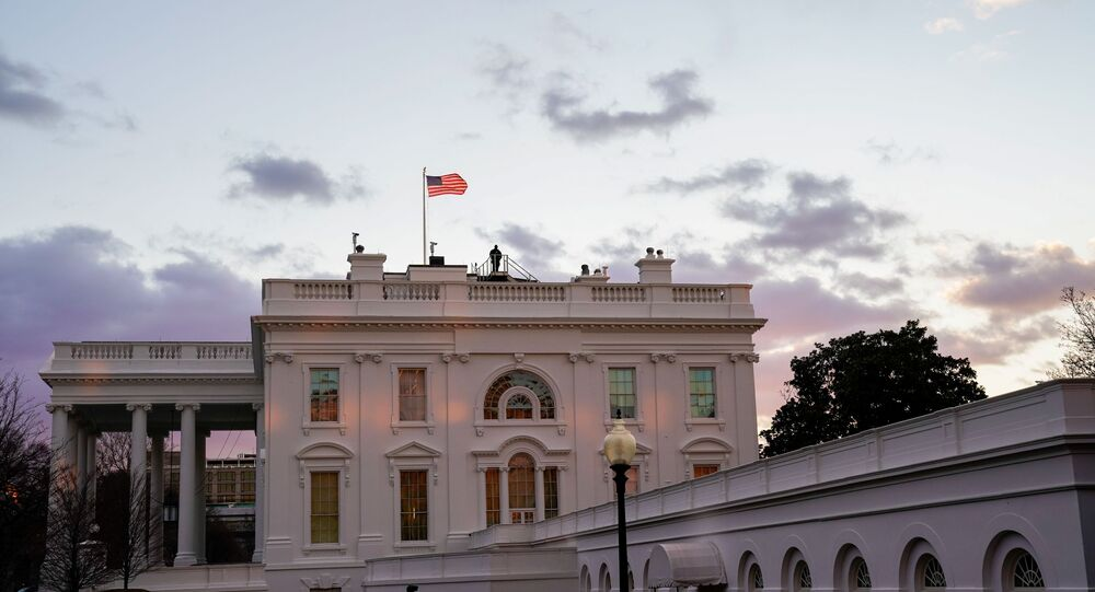 The White House is seen at sunrise during U.S. President Joe Biden's first week in office in Washington, U.S., January 23, 2021.
