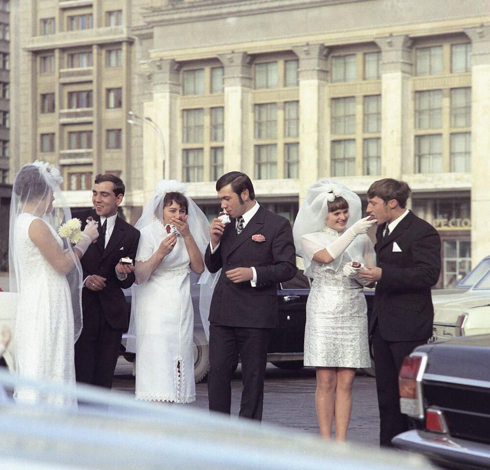 Eskimos for newlyweds, Moscow 1972.