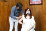 Argentine Vice-President Cristina Fernandez de Kirchner gets vaccinated with the Sputnik V (Gam-COVID-Vac) vaccine at the Hospital Presidente Peron, in Avellaneda, on the outskirts of Buenos Aires, Argentina January 24, 2021
