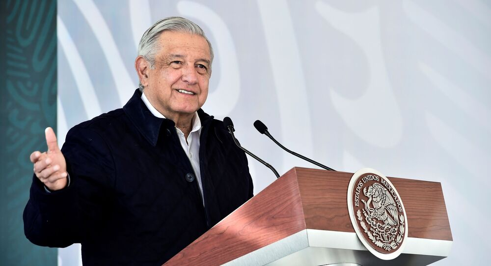 Mexico's President Andres Manuel Lopez Obrador attends the inauguration of an installation of the National Guard in San Luis Posoti, Mexico January 24, 2021. Manuel Lopez Obrador has tested positive for COVID-19, he said on Sunday, adding that his symptoms were light and that he was receiving medical treatment.