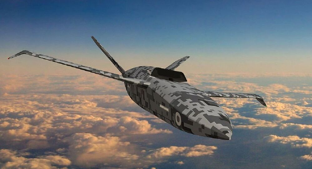 Artist's graphic of the RAF's Lightweight Affordable Novel Combat Aircraft (LANCA) concept