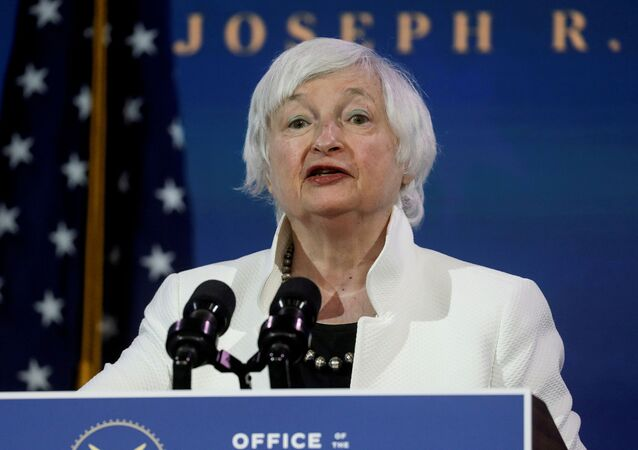 Janet Yellen, U.S. President-elect Joe Biden's nominee to be treasury secretary, speaks as Biden announces nominees and appointees to serve on his economic policy team at his transition headquarters in Wilmington, Delaware, U.S., December 1, 2020.