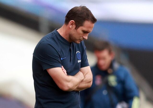 Frank Lampard, who has been sacked as Chelsea manager