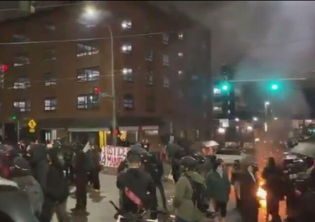 Antifa protests in Tacoma, Washington state