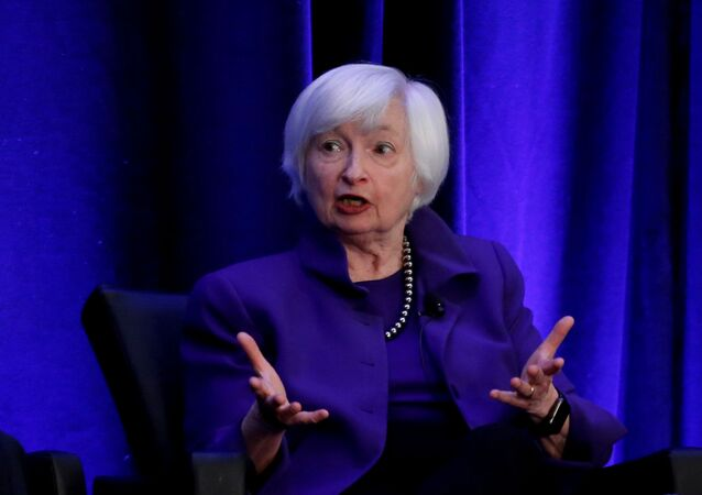 Former Federal Reserve Chairman Janet Yellen speaks during a panel discussion at the American Economic Association/Allied Social Science Association (ASSA) 2019 meeting in Atlanta, Georgia, U.S., January 4, 2019.