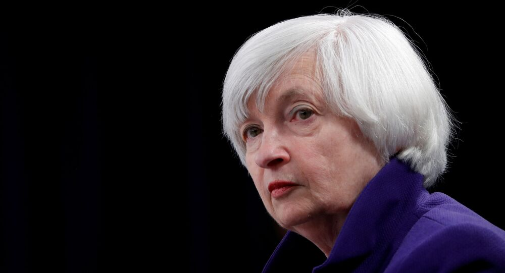 U.S. outgoing Federal Reserve Chair Janet Yellen holds a news conference after a two-day Federal Open Market Committee (FOMC) meeting in Washington, U.S. December 13, 2017