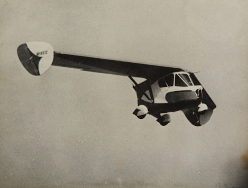 The Waterman Arrowbile, a tailless, two-seat, single-engine, pusher configuration roadable aircraft built in the US in the late 1930s.