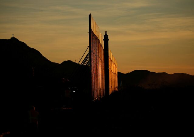 The new section of the bollard-type border wall erected in Sunland Park, New Mexico, U.S., as seen from the Mexican side of the border in Ciudad Juarez, Mexico January 15, 2021