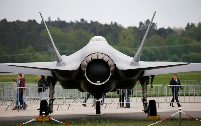 A Lockheed Martin F-35 aircraft is seen at the ILA Air Show in Berlin, Germany, April 25, 2018.