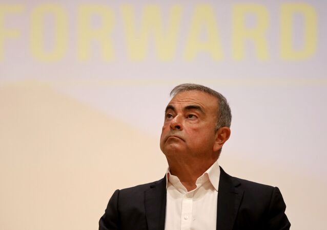 Carlos Ghosn, the former Nissan and Renault chief executive, looks on during a news conference at the Holy Spirit University of Kaslik, in Jounieh, Lebanon September 29, 2020