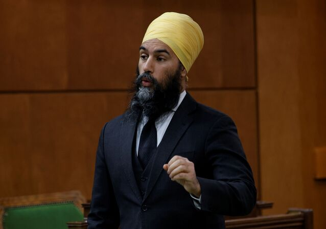 Canada's New Democratic Party leader Jagmeet Singh speaks during Question Period in the House of Commons on Parliament Hill in Ottawa, Ontario, Canada January 25, 2021.