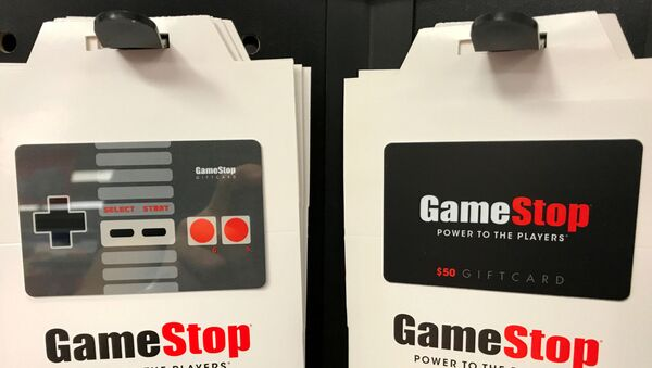 FILE PHOTO: GameStop gift cards are shown for sale at a GameStop Inc. store in Encinitas, California, U.S., May 24, 2017.  - Sputnik International