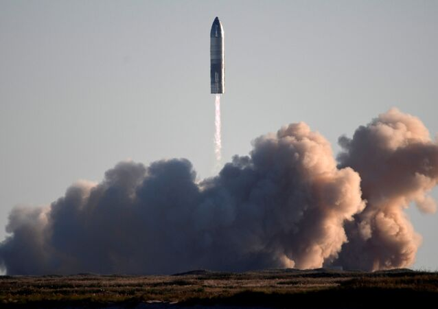 SpaceX launches its first super heavy-lift Starship SN8 rocket during a test from their facility in Boca Chica,Texas, U.S. December 9, 2020