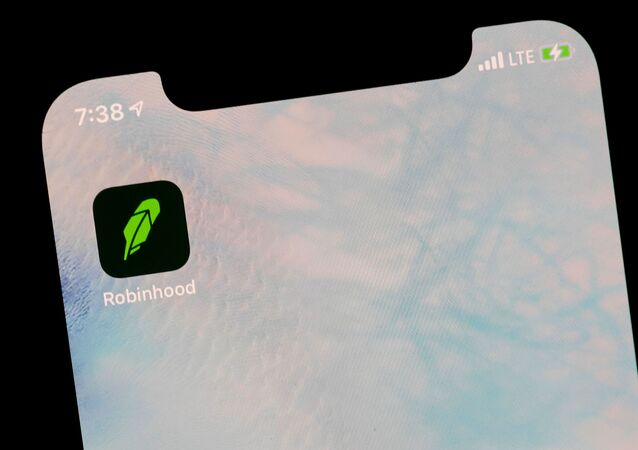 The Robinhood App is displayed on a screen in this photo illustration January 29, 2021