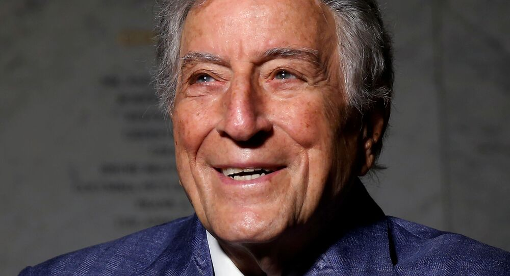 Singer and artist Tony Bennett poses for a portrait before an opening of his art exhibition in the Manhattan borough of New York, U.S. May 3, 2017.
