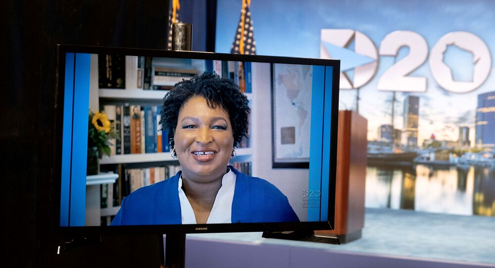 Stacey Abrams speaks at Democratic National Convention in Milwaukee, Wisconsin, U.S. August 18, 2020