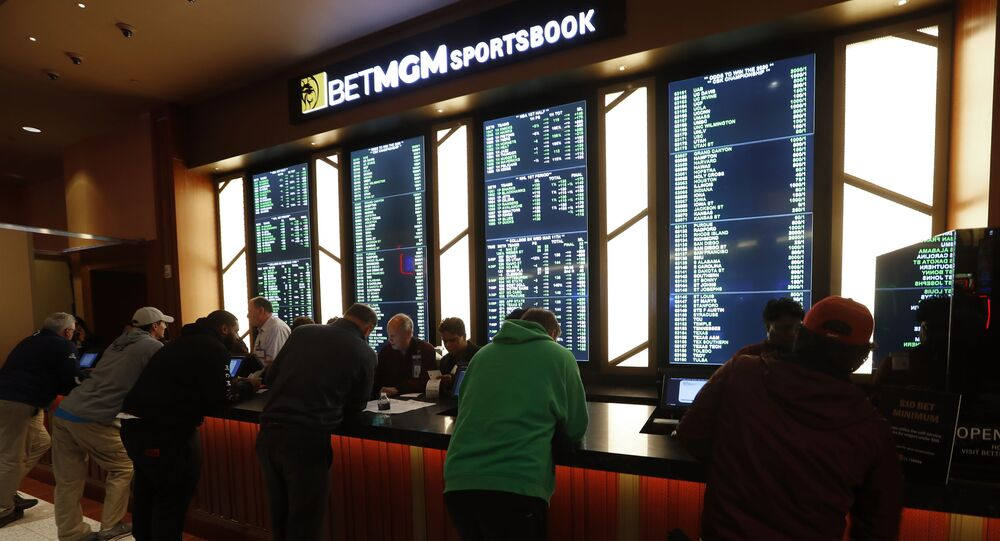 Gamblers place bets