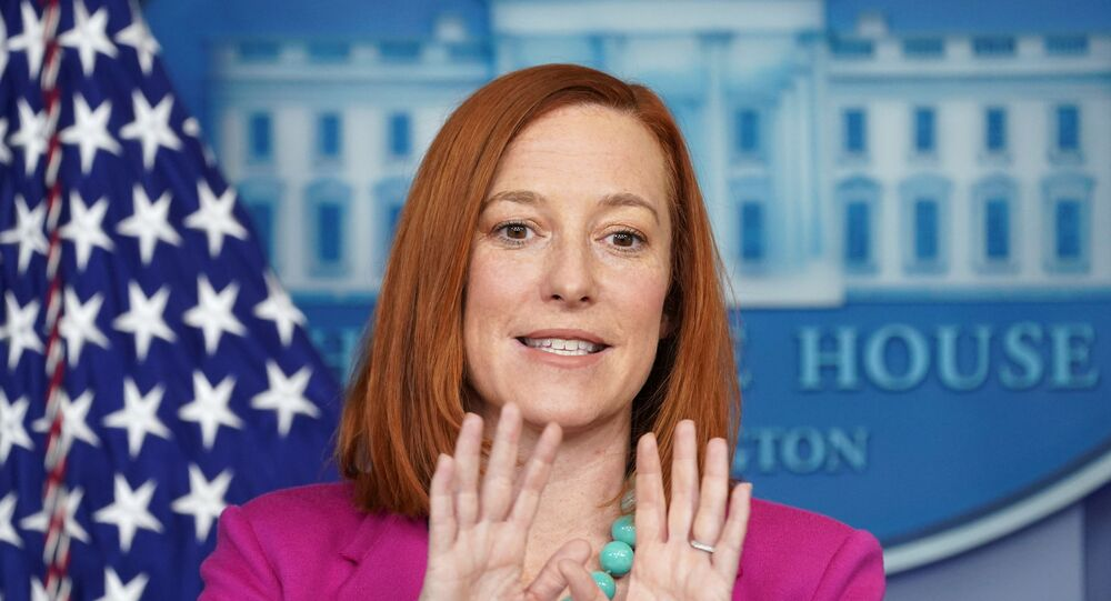 White House Press Secretary Jen Psaki holds a press briefing at the White House in Washington, U.S., January 28, 2021.