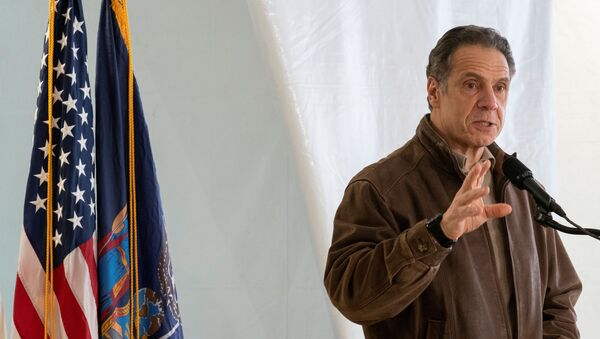 New York Gov. Andrew Cuomo speaks to reporters during a news conference at a COVID-19 pop-up vaccination site in William Reid Apartments in Brooklyn, New York City, U.S., January 23, 2021. - Sputnik International