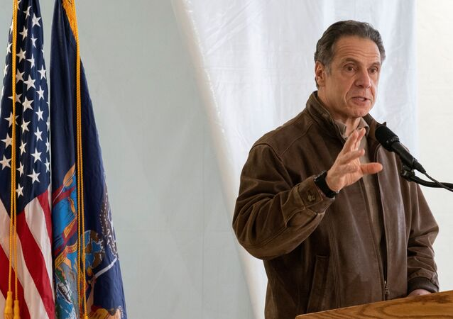New York Gov. Andrew Cuomo speaks to reporters during a news conference at a COVID-19 pop-up vaccination site in William Reid Apartments in Brooklyn, New York City, U.S., January 23, 2021.