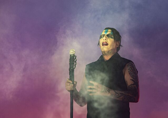 Marilyn Manson performs during Louder Than Life at Highland Festival Grounds at KY Expo Center on Sunday, Sept. 29, 2019, in Louisville, Ky.
