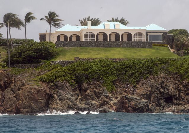 This 9 July 2019 file photo shows a portion of Jeffery Epstein's estate on Little Saint James Island, in the US Virgin Islands.