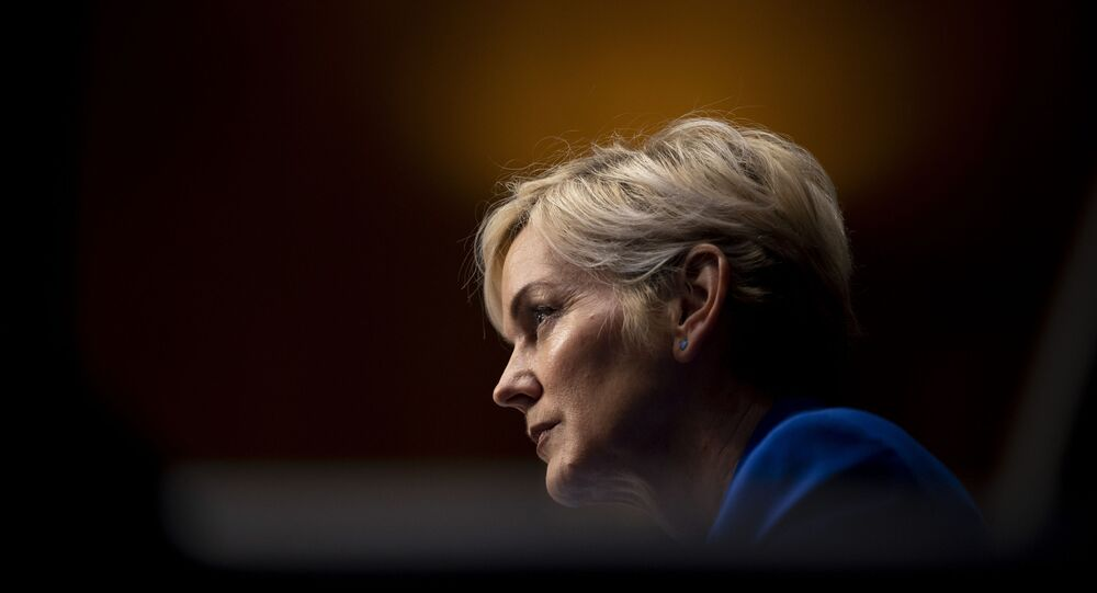 Former Gov. Jennifer Granholm, D-Mich., testifies before the Senate Energy and Natural Resources Committee during a hearing to examine her nomination to be Secretary of Energy, Wednesday, Jan. 27, 2021 on Capitol Hill in Washington.