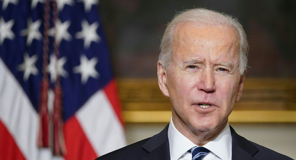 US President Joe Biden speaks on climate change, creating jobs, and restoring scientific integrity before signing executive orders in the State Dining Room of the White House in Washington, DC on January 27, 2021.