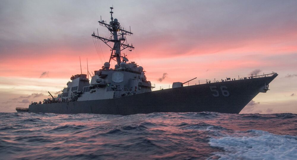 In this Jan. 22, 2017, photo provided by U.S. Navy, the USS John S. McCain conducts a patrol in the South China Sea while supporting security efforts in the region.