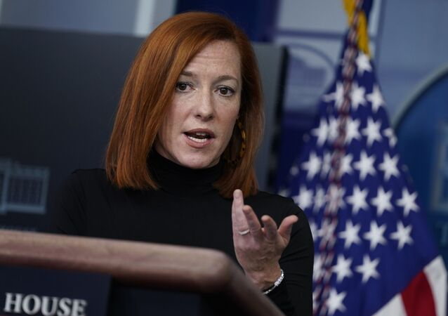 White House press secretary Jen Psaki speaks during a press briefing at the White House, Wednesday, 3 February 2021, in Washington, DC.