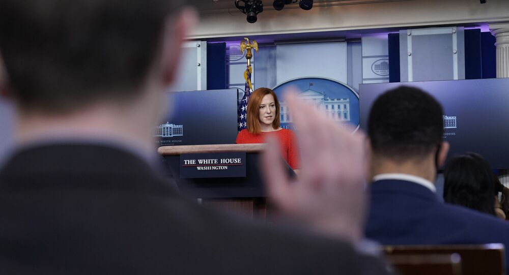 White House press secretary Jen Psaki speaks with reporters in the James Brady Press Briefing Room at the White House, Thursday, Feb. 5, 2021, in Washington.