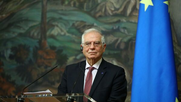 European Union's foreign policy chief Josep Borrell attends a news conference following a meeting with Russia's Foreign Minister Sergei Lavrov in Moscow, Russia February 5, 2021.  - Sputnik International