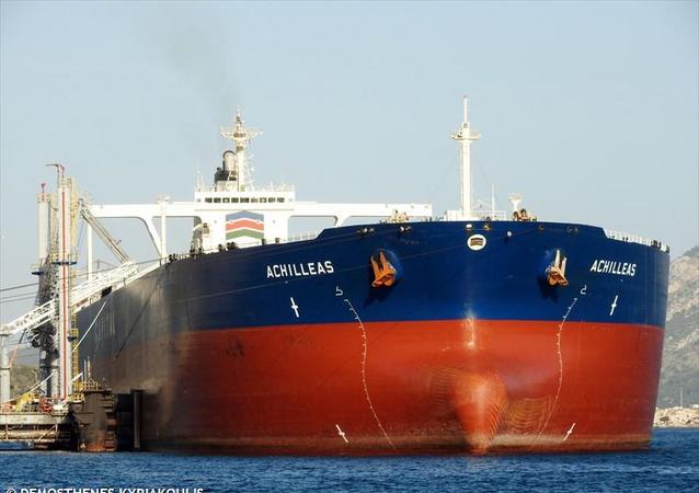 The Achilleas, a Liberian-flagged Greek-owned crude oil tanker.