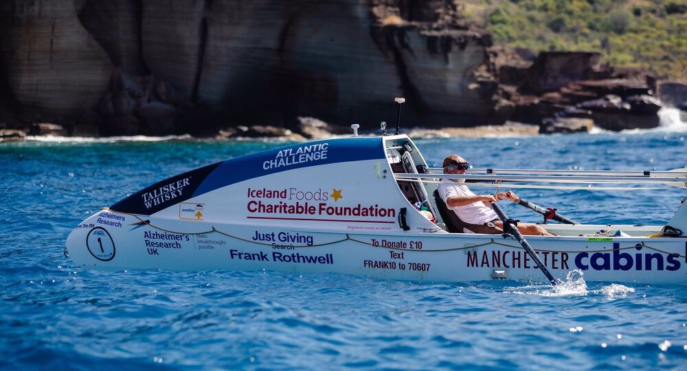 Frank Rothwell completes the Talisker Whisky Atlantic Challenge in February, 2021